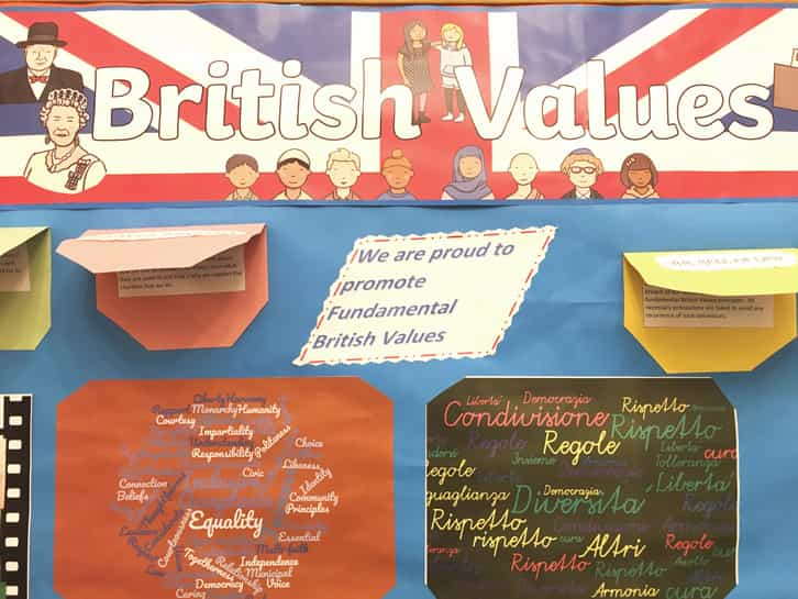The four British values at SIAL